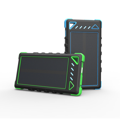 WT-186 IP54 8000mAh rainproof solar power bank